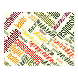 Valores de motivación del positivo de las palabras postal