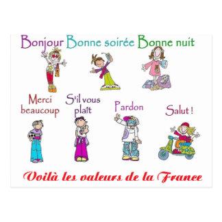 VALORES del FRANCE.png Postal