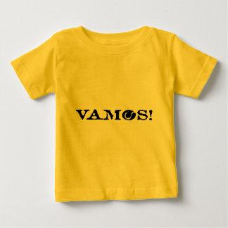 ¡Vamos! Camiseta del bebé