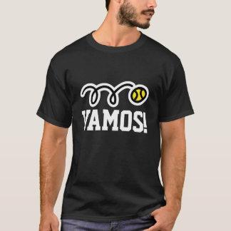 ¡Vamos! Camiseta del tenis para los jugadores y