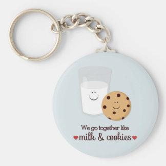Vamos juntos como la leche y las galletas llavero