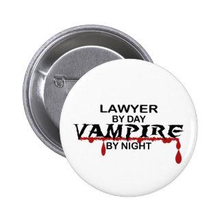 Vampiro del abogado por noche chapa redonda 5 cm