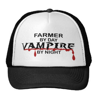 Vampiro del granjero por noche gorros bordados