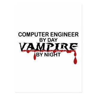 Vampiro del ingeniero informático por noche postal