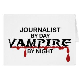 Vampiro del periodista por noche tarjeta