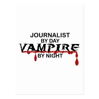 Vampiro del periodista por noche postal