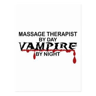 Vampiro del terapeuta del masaje por noche postal