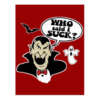 Vampiro divertido de Halloween Postal