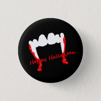 ¡Vampiros del feliz Halloween! Chapa Redonda De 2,5 Cm