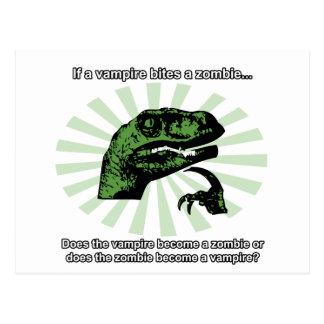 Vampiros y zombis de Philosoraptor Postal