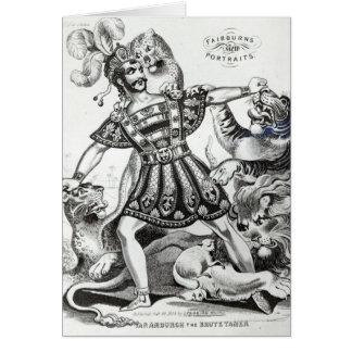 Van Amburgh el más doméstico bruto, 1838 Tarjeta