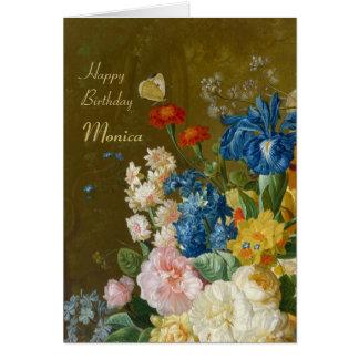 Van Bruselas florece en un cumpleaños CC0259 del Tarjeta De Felicitación
