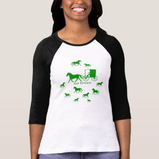 Van el caballo verde de Amish y con errores caba Camiseta