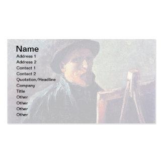 Van Gogh - autorretrato con el sombrero de fieltro Tarjetas De Visita