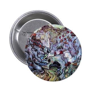 Van Gogh - barranco de Les Peiroulets Chapa Redonda 5 Cm