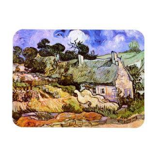 Van Gogh: Cabaña de los granjeros en Cordeville Imán