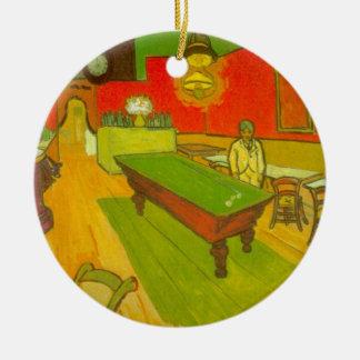 Van Gogh; Café de la noche, arte del impresionismo Ornamento Para Arbol De Navidad