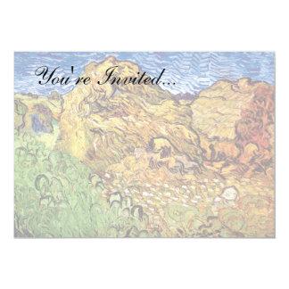 Van Gogh - campo con las pilas de grano Invitación 12,7 X 17,8 Cm