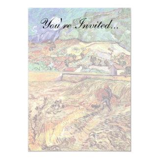 Van Gogh - campo de trigo incluido con el Invitación 12,7 X 17,8 Cm