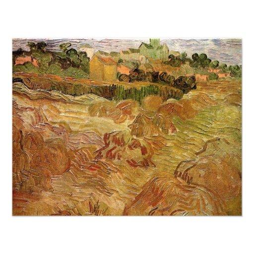 Van Gogh; Campos de trigo con Auvers, granja del v Anuncios Personalizados