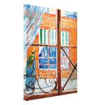 Van Gogh - carnicería vista de una ventana Lona Estirada Galerías