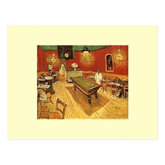 Van Gogh el café de la noche Postal