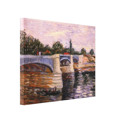 Van Gogh, el Sena Pont del Grande Jette, arte del  Impresión En Lienzo Estirada