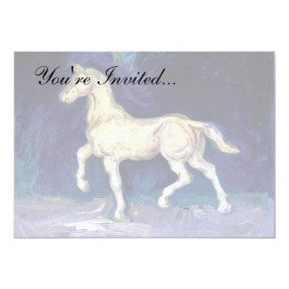 Van Gogh - figurilla del yeso de un caballo Invitación 12,7 X 17,8 Cm