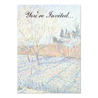 Van Gogh - huerta con los árboles de melocotón en Invitación 12,7 X 17,8 Cm