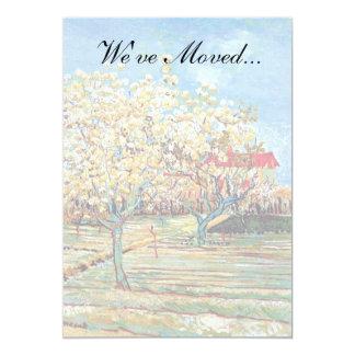 Van Gogh - huerta en flor Invitación 12,7 X 17,8 Cm