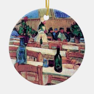 Van Gogh - interior del Carrel del restaurante en Adorno Redondo De Cerámica