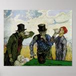 Van Gogh la bella arte de los bebedores (F667) Posters