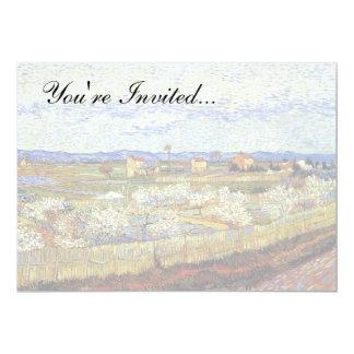 Van Gogh - La Crau con los árboles de melocotón en Invitación 12,7 X 17,8 Cm