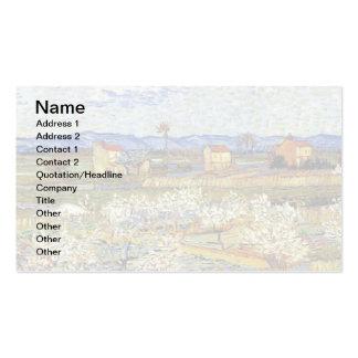 Van Gogh - La Crau con los árboles de melocotón en Tarjeta De Visita