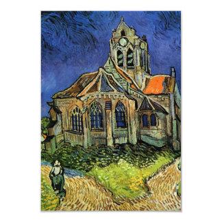 Van Gogh, la iglesia en Auvers, ahorra la fecha Invitación 8,9 X 12,7 Cm