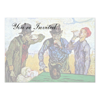 Van Gogh - los bebedores Invitación 12,7 X 17,8 Cm