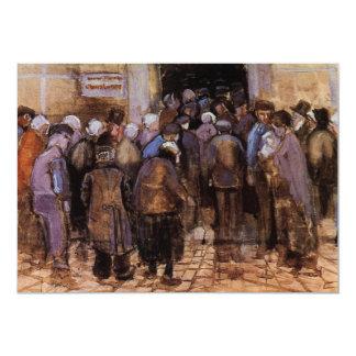 Van Gogh los pobres y el dinero, impresionismo del Invitación 12,7 X 17,8 Cm