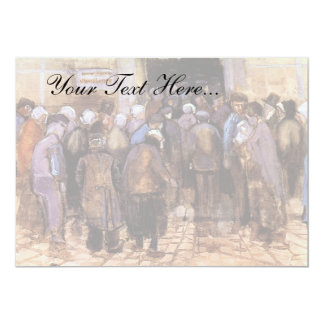 Van Gogh - los pobres y el dinero Invitación 12,7 X 17,8 Cm