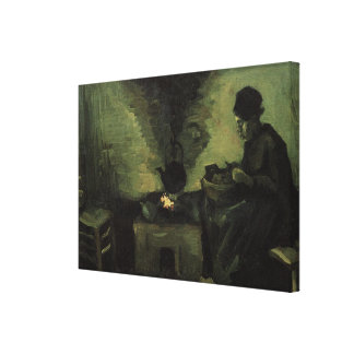 Van Gogh; Mujer campesina por la chimenea, arte