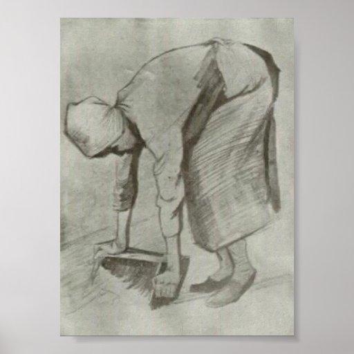 Van Gogh - mujer de doblez Impresiones