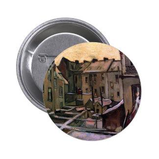 Van Gogh - patios traseros de casas viejas Chapa Redonda 5 Cm