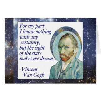 Van Gogh protagoniza la tarjeta ideal