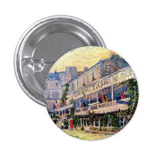 Van Gogh - Restaurant De La Sirene At Asnieres Chapa Redonda 2,5 Cm