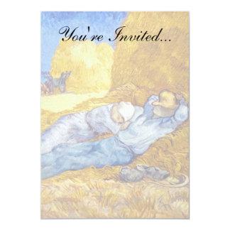 Van Gogh - resto del mediodía del trabajo Invitación 12,7 X 17,8 Cm