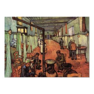 Van Gogh; Sala en el hospital en Arles Invitación 12,7 X 17,8 Cm