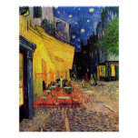 Van Gogh, terraza del café en la noche, bella arte Impresiones