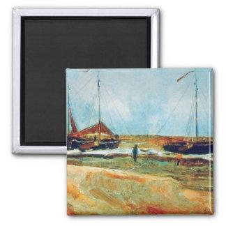 Van Gogh - tiempo tranquilo de la navegación Imán Para Frigorifico
