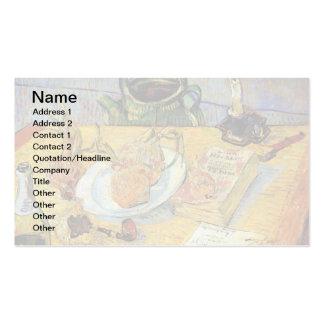 Van Gogh - todavía tablero de dibujo de la vida Tarjetas De Visita