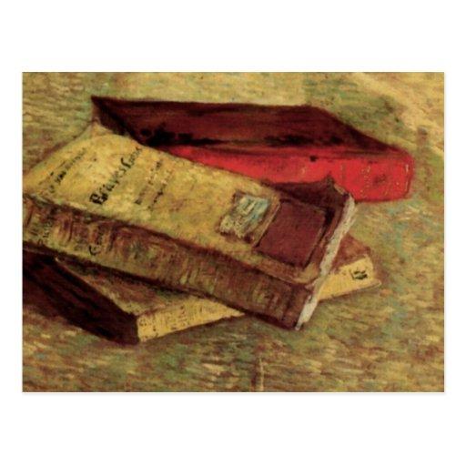 Van Gogh; Todavía vida con tres libros, arte del v Postal