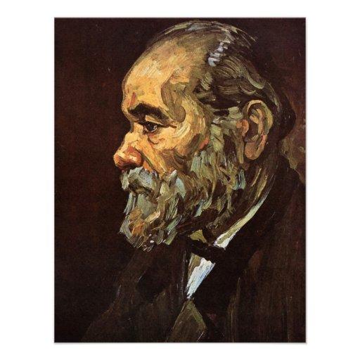 Van Gogh, viejo hombre con la barba, retrato del v Anuncio Personalizado